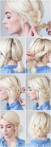 Mittellange Haare locker und schick flechten – Frisuren