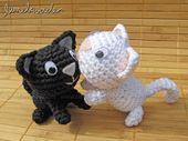 Amigurumi Gato Negro : Ameba verde: gato negro gato blanco manualidades pinterest
