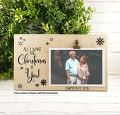 Couples Christmas Picture Frame, All I Want for Christmas is You Personalized Ph…