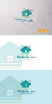 Kinder Garden Logo Template. Pattern Vectors. $12.00