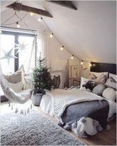 49+ coole Dachgeschoss Schlafzimmer Ideen und Desi…
