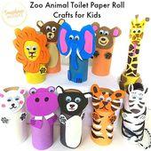 10 entzückende Zoo-Tier-Toilettenpapierrolle für Kinder! – #Entzückende #für…
