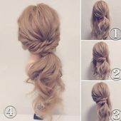 3 simple DIY hairstyles with step by step ~ Beauty and Hairstyles