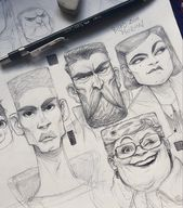 FACES. SKETCHES скыдыщ! on Behance