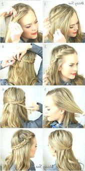 Alltags Frisuren Für Mittlere Haar Länge Die All… – #alltags #Die #Frisuren …