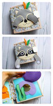 Quiet book soft toy for girl and boy, Developmental activity for toddler – DIY STOFF,GARN UND CO