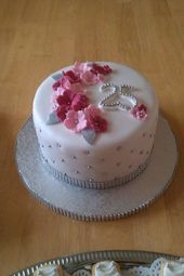 Torte Silberhochzeit Petra   – Kuchen