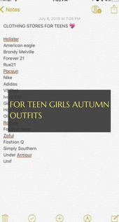 For Teen Girls autumn outfits ! für teen girls herbstoutfits #Teen #Girls #autu…