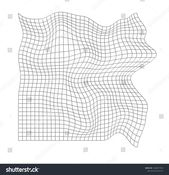 Distorted Grid Pattern Technology Science Game Stock Vector (Royalty Free) 1364071073