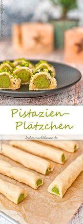Pistazien-Plätzchen {weihnachtsbäckerei  – Rezepte