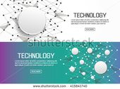Flat Designed Banners Technology Vector Stock Vector (Royalty Free) 415841740