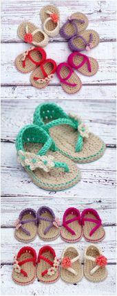 Crochet Baby Sandals Patterns Best Cutest Tutorials - My Style - #Baby #Crochet #Cutest #Patterns #sandals