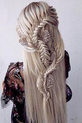 42 La moitié en haut La moitié en baisse Idées pour les coiffures de mariage – # Coiffures de mariage # Idées – …   – frisuren