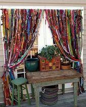 Boho, rideaux à la main hippie! Expédition disponible en dehors des États-Unis