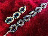 DIY Beaded Bracelet || Christmas Gift ideas || St Petersburg Stitch || Russian leaves – bead designs