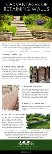 5 Advantages Of Retaining Wall Adc Hardscapes Retaining Wall Contractor In Oklahoma City Edmond Ok Hardscape Structure Design Retaining Wall