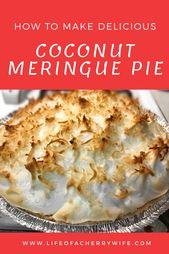 Einfaches und leckeres Rezept für Kokos-Baiser-Torte! Einfach wie man wie man macht … – Fooood!! Yum
