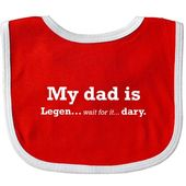 Inktastic My Dad Is Legendary Baby Bib How I Met Your Mother Himym Fathers Day W…