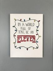 STRANGER THINGS Hand Painted Canvas – Elf