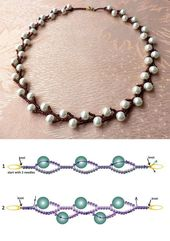 Seed beads jewelry Don't tell me you can't read these bead diagrams! So