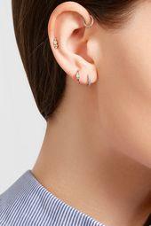 Maria Tash – 18-karat white gold diamond earring