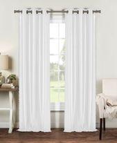 Duck River Textile Bali 38″ x 84″ Pompom Trim Faux Silk Curtain Set & Reviews – Window Treatments & Blinds – Macy's