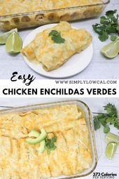 Easy Chicken Enchiladas Verdes werden aus nur 4 Zutaten hergestellt und …   – …