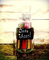 Cute Diy Gift For A Boyfriend Or Girlfriend A Mason Jar Filled With Popsicle Sticks That Have Fun Date Ideas On Them Doe Het Zelf Knutselen