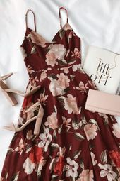 Fall flower dress for weddings and events #dress #fall #floral – co …