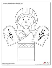 The Ten Commandments Coloring Page Catholic Catholics Bible
