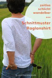 Wandelbares Shirt schnittmuster mit mehreren Ärme…