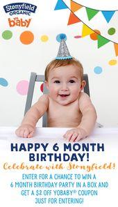 Pin On 6 Month Birthday