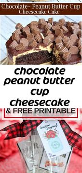 Chocolate peanut butter cup cheesecake cake 1
