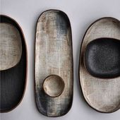 Ceramic tableware set with platters, plates, bowls…