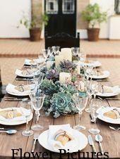 Niedrige Hochzeitsmittelstücke, die die Show stehlen   – Glas Windlicht