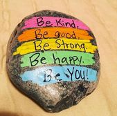 35 Awesome Painted Rocks Quotes Design Ideas (21