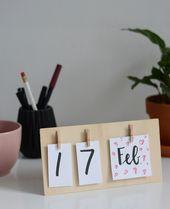DIY: Tischkalender aus Holz – we love handmade – Büro Deko Ideen & Schreibtischdeko