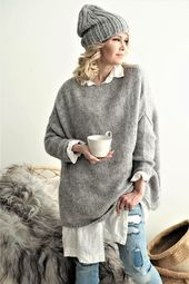 Bypias EASY Strickpullover #knit #jumper #bypias #ootd #autumnoutfit #autumn #jumpe …   – fashion