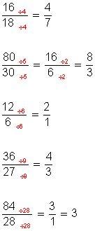Fracciones Amplificar Y Simplificar Fracciones Simplificar Fracciones Matematicas