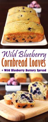 """Wild Blueberry Cornbread & """"Butter"""" (glutenfrei optional)"""