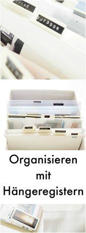 Hang loose! Mit Hängeregistern deine Materialien oder Blog-Unterlagen sortieren #Werbung