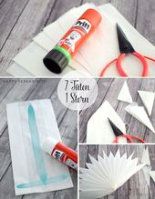 {diy} stars made of sandwich paper and wallpaper
