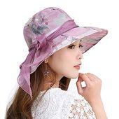 Woman upf 50+ bucket sun hat uv preservation cap packable bowknot summer hat women adjustable fold- – Products