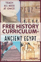 FREE Historic World Historical past Curriculum- Historic Egypt (Half 2)