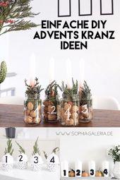 My Top 10 Easy Peasy DIY Advent Wreath Ideas – sophiagaleria  – DIY – Weihnachten