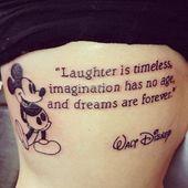 Disney Tattoo – 2017 Trend Disney Tattoo – Schönes Disney Tattoo – Vom Einfachsten zum Detailliertesten …