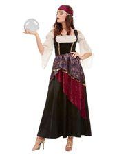 """49 """"Schwarz-Weiß-Wahrsagerin Damen Halloween-Kostüm für Erwachsene - Mittel"""