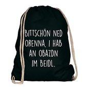 Shirtdepartment sporttasche für das oktoberfest | Farbe: schwarz und weiß Bittschö … – Accessoires