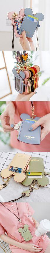 【2 / US$15.98】Women Cute Animal Shape Card Hol…