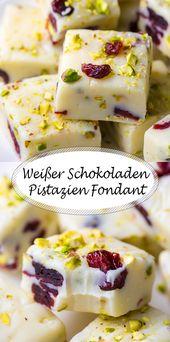 Receta súper fácil para fondant de pistacho de chocolate blanco   – Rezepte